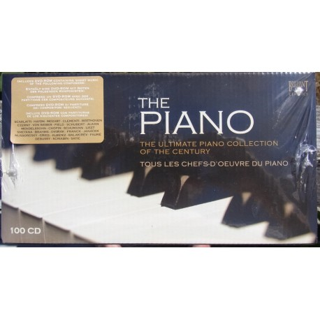 The Piano. The Ultimate Piano Collection of the Century. 100 CD. Brilliant Classics 9005. Nyt eksemplar