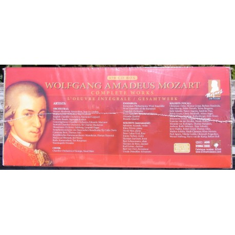 Mozart Edition: Complete Works. 170 CD Brilliant Classics 92540. Factory sealed new Copy