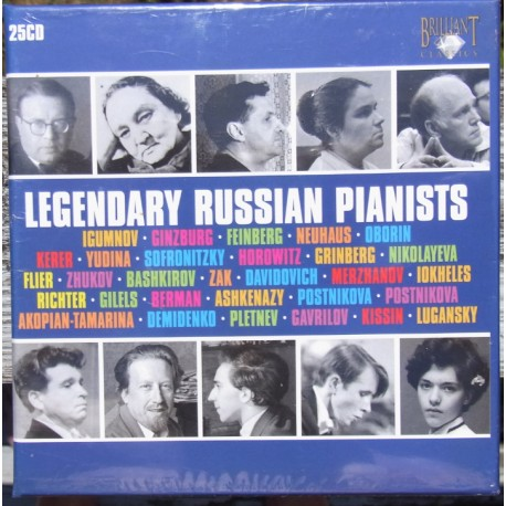 Legendary Russian pianists. 25 CD. Brilliant Classics. Nyt eksemplar