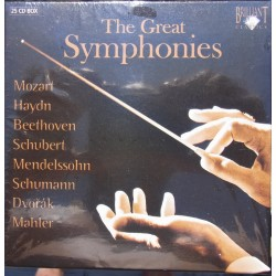 The Great Symphonies by Haydn, Mozart, Beethoven, Schubert, Mendelssohn, Schumann, Dvorák, Brahms, Mahler. 25 CD. Brilliant