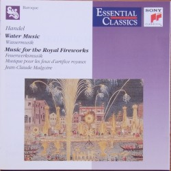 Handel: Water music + Music for the Royal Fireworks. Malgoire. 1 CD. Sony