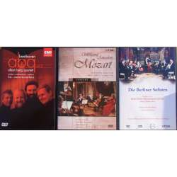 Famous Chamber music DVD's. Beethoven and Mozart. 4 DVD.