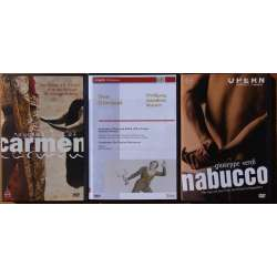 3 Popular operas on DVD. Carmen, Don Giovanni, Nabucco. 3 DVD.