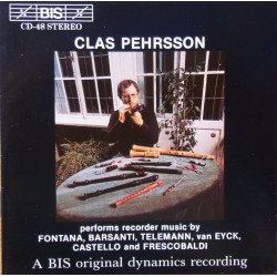 Clas Pehrsson: Recorder Chamber music. 1 CD. BIS