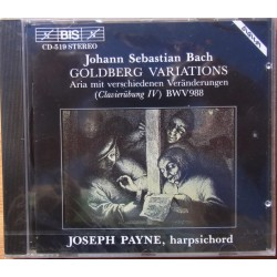 Bach: Goldberg Variations. Joseph Payne. 1 CD. BIS. CD 519