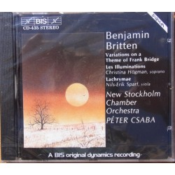 Britten: Les illuminations, Lachrymae & Frank Bridge Variations. 1 CD. BIS CD 435
