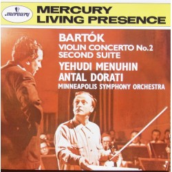 Bartok: Violinkoncert nr. 2. Yehudi Menuhin, Antal Dorati, Minneapolis SO. 1 CD. Mercury