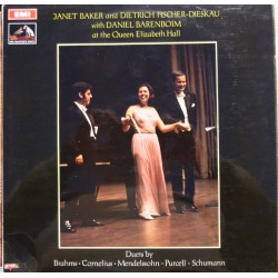 Janet Baker and Dietrich Fischer-Dieskau with Daniel Barenboim, at the Queen Elizabeth Hall. 1 LP. EMI