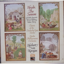 Haydn: The Seasons. Karajan. Janowitz, Holweg, Berry. 3 LP. EMI.