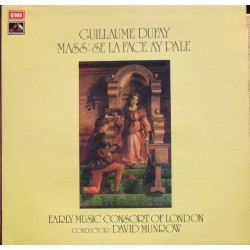 Dufay: Mass, Se la face ay pale. David Munrow. Early music consort of London. 1 LP. EMI