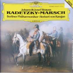 J. Strauss: Radetzky March. Perpetuum mobile, Wienerblod. Karajan, Berlin PO. 1 CD. DG