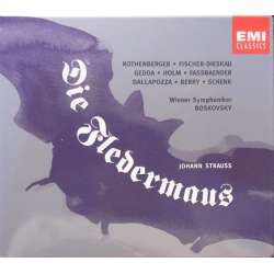 J. Strauss: Flagermusen. Gedda, Dieskau, Rothenberger. Willi Boskovsky. 2 CD. EMI