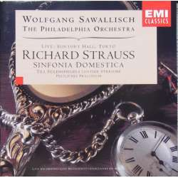 Strauss: Sinfonia Domestica & Prelude for Organ and Orchestra. Wolfgang Sawallisch, Philadelphia SO. live in Japan. 1 CD. EM