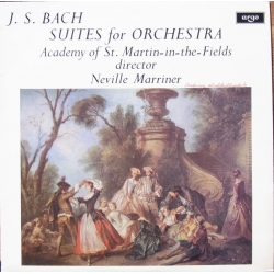Bach: Suites for Orchestra. Nos 1-4. Neville Marriner, Academy of st. Martin in the Fields. 2 LP Argo. ZRG 687-88