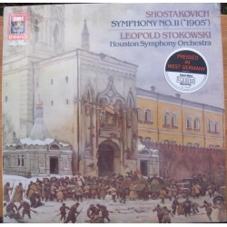 Shostakovich: Symfoni nr. 11. Leopold Stokowski, Houston SO. 1 LP. EMI