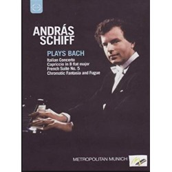 Bach: Italiensk koncert, Chromatic fantasia and fugue. Andras Schiff. 1 DVD. Euroarts