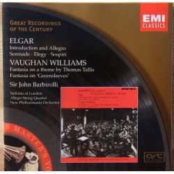 Vaughan Williams: Greensleves, Thomas Tallis fantasy. John Barbirolli. 1 CD. EMI. GRC