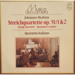Brahms: String Quartets Op. 51 no. 1 & 2. Quartetto Italiano. 1 LP. Philips