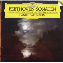 Beethoven: Moonlight sonata. Pathetique, Appassionata. Daniel Barenboim. 1 LP. DG. 4196021
