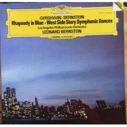 Gershwin: Rhapsody in blue. & Bernstein: West Side Story. Leonard Bernstein, Los Angeles PO. 1 LP. DG