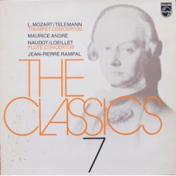 Leopold Mozart & Telemann: Trompetkoncerter. Maurice Andre, Jacques Roussel. 1 LP. Philips