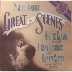 Puccini: Great love Scenes. Domingo, te Kanawa, Cotrubas, Scotto. 1 LP. CBS