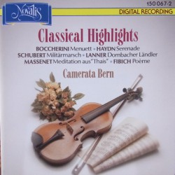 Boccherini: Menuett, Schubert: Militær march, Camarata Bern. 1 CD, Novalis