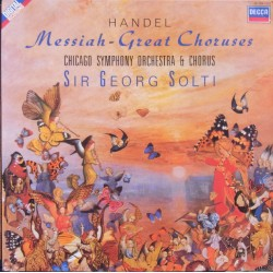 Handel: Messiah. Georg Solti. te Kanawa, Gjevang, Chicago SO. 1 LP. Decca