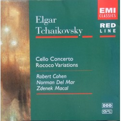 Elgar: Cello Concerto. + Tchaikovsky: Rococo Variations. Robert Cohen, Normal Del Mar. LPO. 1 CD. EMI