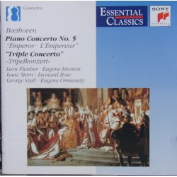 Beethoven: Piano Concerto no. 5. + Triple Concerto. Fleischer, Istomin, Stern, Rose, Szell. 1 CD. Sony