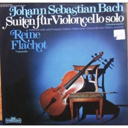 Bach: 6 suiter for solocello. Reine Flachot. 2 LP. Intercord.