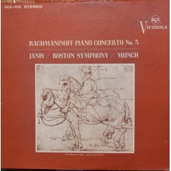 Rachmaninov: Klaverkoncert nr. 3. Byron Janis, Boston SO. Charles Munch. 1 LP. RCA