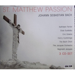 Bach: Matthæuspassion. Kathleen Ferrier, Riginald Jacques. 3 CD. Membran