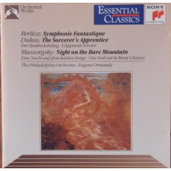 Berlioz: Symphonie Fantastique, + Dukas: Troldmanden lærling. Eugene Ormandy, Philadelphia SO. 1 CD. Sony