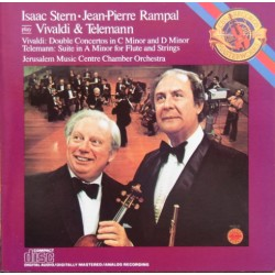 Vivaldi: Double Concerto. + Telemann: Suite i A, Isaac Stern, Jean Pierre Rampal. 1 CD. Sony