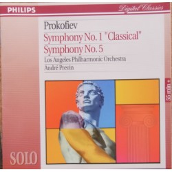 Prokofiev: Symphonies nos 1 & 5. Andre Previn, Los Angeles Philharmonic Orchestra. 1 CD. Philips