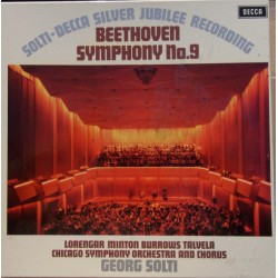 Beethoven: Symfoni nr. 9. Georg Solti, Chicago Symphony Orchestra. 2 LP. Decca