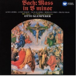 Bach: Mass in B minor. Janet Baker, Agnes Giebel. Otto Klemperer. 2 CD. Warner