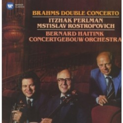 Brahms: Double Concerto. Perlman, Rostropovich, Haitink. 1 CD. Warner