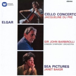 Elgar: Cello Concerto, Jacqueline du Pré. + Sea Pictures, Janet Baker. John Barbirolli. 1 CD. Warner
