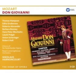Mozart: Don Giovanni. Hampson, Gruberova, Bonney. Harnoncourt. 3 CD. Warner