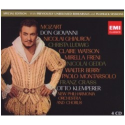Mozart: Don Giovanni. Otto Klemperer. Ghiaurov, Ludwig, Freni, Gedda. 4 CD. Warner.