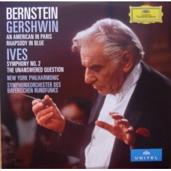 Gershwin: An American in Paris, Rhapsody in blue. & Ives: Symphony no. 2. Leonard Bernstein, New York PO. 1 DVD. DG