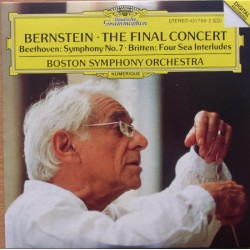 Beethoven: Symphony no. 7. & Britten Four Sea Interludes. Leonard Bernstein, Boston SO. 1 CD. DG.