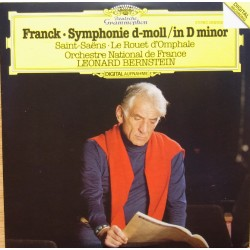 Franck: Symphonie in D-minor. & Saint-Saens: Le Rouet d'Ompale. Leonard Bernstein, Ochestre National de France. 1 CD. DG