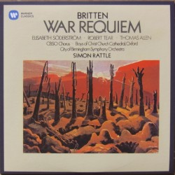 Britten: War Requiem. Simon Rattle, City of Birmingham Symphony Orchestra. 1 CD. Warner