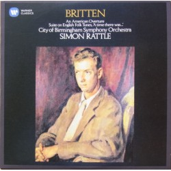 Britten: An a american overture, Suite on English folk tunes, Simon Rattle. 1 CD. Warner
