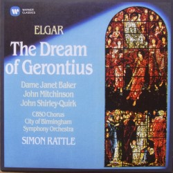 Elgar: The Dream of Gerontius. Janet Baker, Shirley-Quirk, Simon Rattle. CBSO. 2 CD. Warner