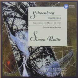 Schoenberg: Erwartung, + Variationen for orchester. Simon Rattle, CBSO. 1 CD. Warner