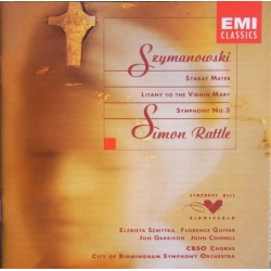 Szymanowski: Stabat Mater. + Symfoni nr. 3. mm. Simon Rattle. 1 CD. WarnerI